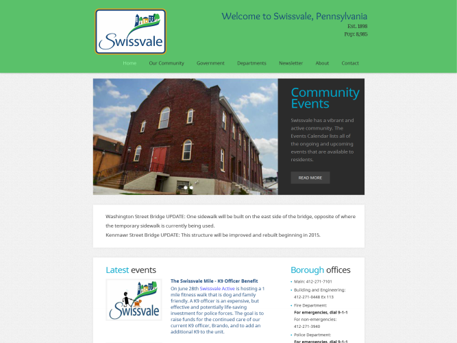 Swissvale Borough Website